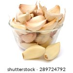 Fresh Garlic Isolated On White...