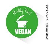 vegan food digital design ... | Shutterstock .eps vector #289725656