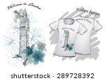 shirt design for print  london | Shutterstock .eps vector #289728392