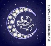 creative crescent moon...   Shutterstock .eps vector #289742648