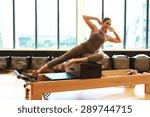 healthy brunette woman wearing... | Shutterstock . vector #289744715