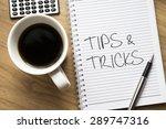 tips and tricks written on book ... | Shutterstock . vector #289747316