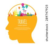 Travel And Tourism Concept...