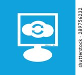 icon with image of cloud with...