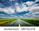 image of wide open prairie with ... | Shutterstock . vector #289761278