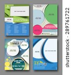 set of flyer   poster design in ... | Shutterstock .eps vector #289761722