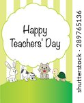 happy teachers day | Shutterstock .eps vector #289765136