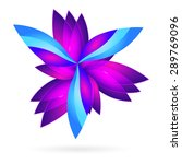 purple   blue floral colorful... | Shutterstock .eps vector #289769096