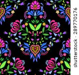 Seamless Folk Pattern. Vector....