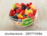 bowl of fruit salad isolated on ... | Shutterstock . vector #289774586