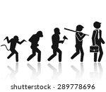 evolution of the man stick... | Shutterstock .eps vector #289778696