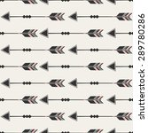 seamless pattern with arrows in ... | Shutterstock .eps vector #289780286