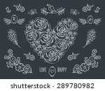 the set of decorative floral... | Shutterstock . vector #289780982