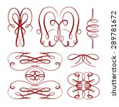 set of elegant flourishes for... | Shutterstock .eps vector #289781672