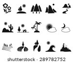 black landscape icons set | Shutterstock .eps vector #289782752