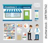 vector pharmacy drugstore set... | Shutterstock .eps vector #289784762