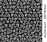 hand painted triangle shapes in ... | Shutterstock .eps vector #289785662