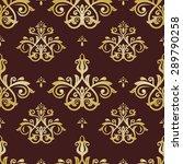 damask seamless ornament. fine... | Shutterstock .eps vector #289790258
