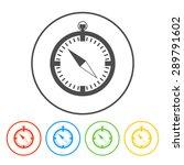 compass icon. flat design style ...