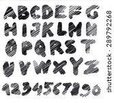 handmade roman alphabet   drawn ... | Shutterstock . vector #289792268