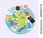 flat illustration of world... | Shutterstock .eps vector #289800776