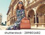 beautiful blonde young woman... | Shutterstock . vector #289801682