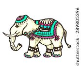 indian elephant  isolated on... | Shutterstock . vector #289805396