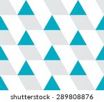 blue and gray triangular prism... | Shutterstock .eps vector #289808876