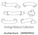 vintage ribbons collection.... | Shutterstock .eps vector #289809842