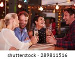 group of friends at rooftop... | Shutterstock . vector #289811516