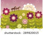 violet flower garden | Shutterstock .eps vector #289820015