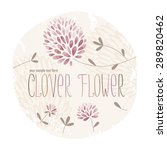 clover circle label with lots... | Shutterstock .eps vector #289820462