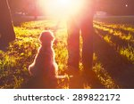 Stock photo young man with his dog 289822172