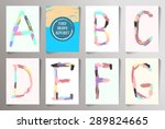 hand drawn alphabet funny style.... | Shutterstock .eps vector #289824665