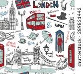 vector  london landmark ... | Shutterstock .eps vector #289831442