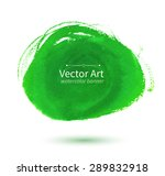 vector watercolor green hand... | Shutterstock .eps vector #289832918