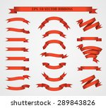design elements. set of red... | Shutterstock .eps vector #289843826