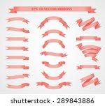 design elements. set of pink... | Shutterstock .eps vector #289843886