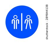 wc sign icon. toilet symbol.... | Shutterstock .eps vector #289844138