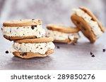 chocolate chip ice cream... | Shutterstock . vector #289850276