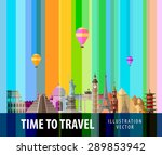 travel  journey vector logo... | Shutterstock .eps vector #289853942