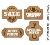 vintage wild west paper labels... | Shutterstock .eps vector #289869602