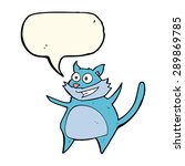 funny cartoon cat with speech... | Shutterstock . vector #289869785