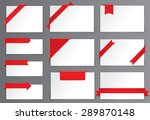 red tag with corner ribbon | Shutterstock .eps vector #289870148