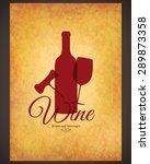 wine list design. vector... | Shutterstock .eps vector #289873358