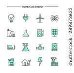 set of flat design  thin line... | Shutterstock .eps vector #289873622