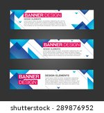 abstract banner triangle line...