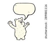 cartoon funny polar bear with... | Shutterstock . vector #289881116
