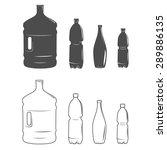 set of isolated water bottle... | Shutterstock .eps vector #289886135