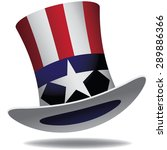 Uncle Sam Hat. Eps 10 Vector.